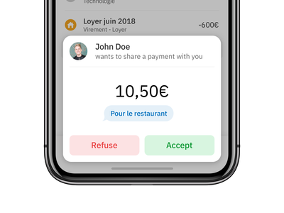 Share Payment Modal minimalist clean ux iphone ios app design ui