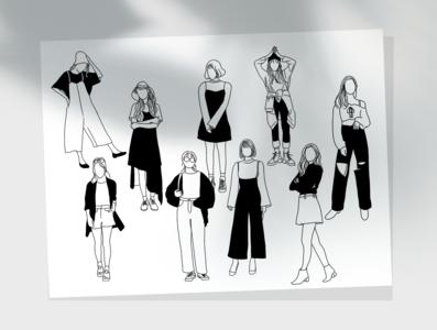 Black and White Minimalist Style blackandwhite illustration design illustration digital artwork simple design bitmap simple simpleillustration illustration design illustration art