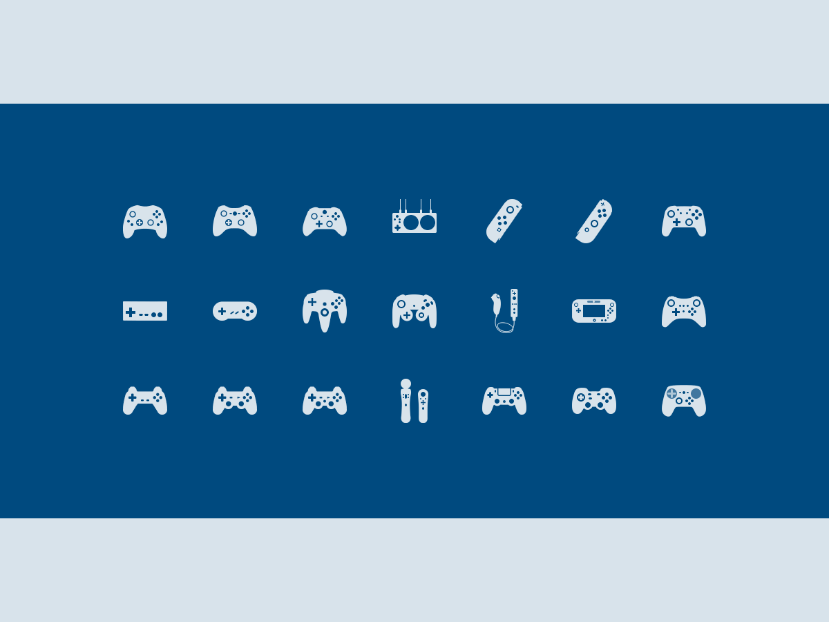 Gamepad Icons playstation xbox nintendo microsoft sony icons gamepads controllers