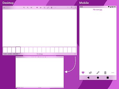 Photo Viewer ios android program fluent design ux windows 10 photos windows uwp software concept app ui