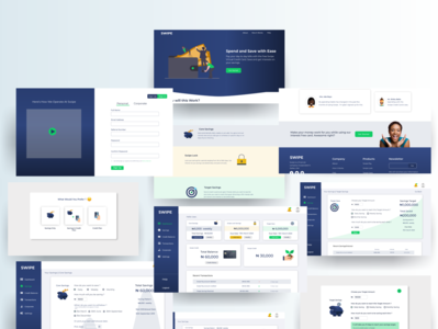 Swipe App Simple Case Study savings finance uiuxdesign product design web dribbble