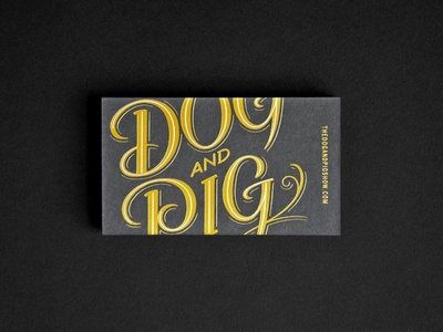 The Dog And Pig Show, Business Card.