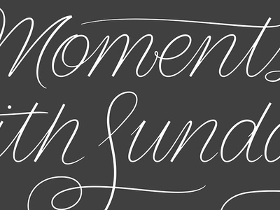 Need Supply Co., Moments With Sunday lettering calligraphy sketches gesture typography