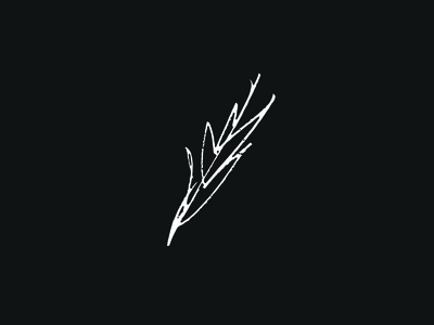 Leaf. logotype lettering typography gesture expressive organic