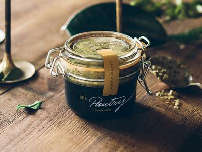 DPS Pantry, Packaging. jar packaging brush mural expressive lettering typography