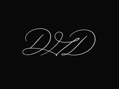 DGD, Monogram. monogram logotype brush calligraphy lettering