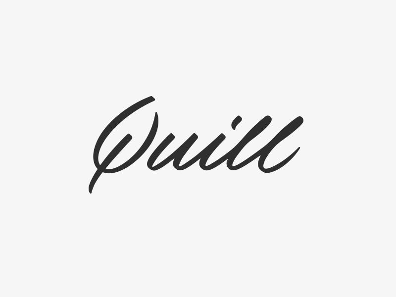 Quill, Wordmark. logotype brush calligraphy lettering