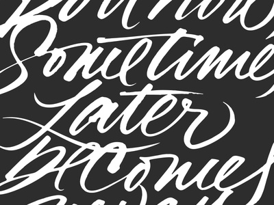 Brush, WIP. expressive typography brush calligraphy lettering