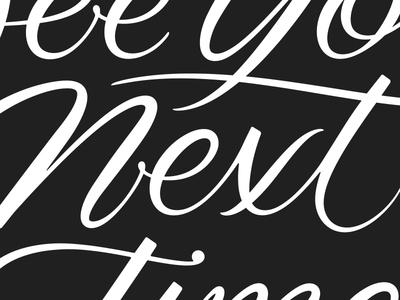Oak Street. expressive typography brush calligraphy lettering