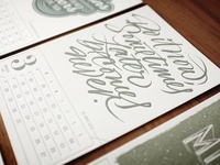 Letterpress Calendar, Finished!