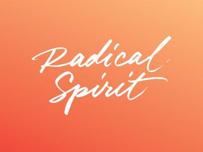 Radical Spirit typography book cover brush calligraphy lettering