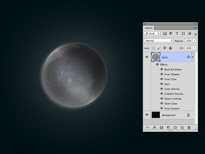 One layer style - Pluto
