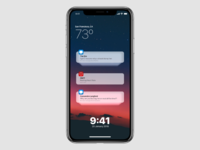 iOS 13 Lock Screen Concept