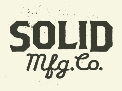 Solid No.01 logo texture minneapolis mfg bats woodworking product line