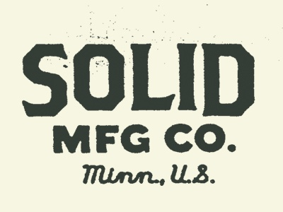 Solid No.02 logo texture minneapolis mfg bats woodworking product line