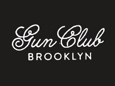 Gun Club logo script type texture nyc buff hunks sweating
