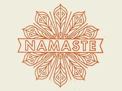 Namaste No.02 logo identity namaste nepal indian restaurant mandala cafe texture minneapolis