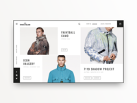 Stone Island website redesign concept