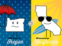 Oregon vs. California