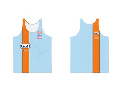 Gulf Racing Men's Performance Running Tank athletic apparel gulf racing racing stripe apparel singlet gulf motorsports racing running