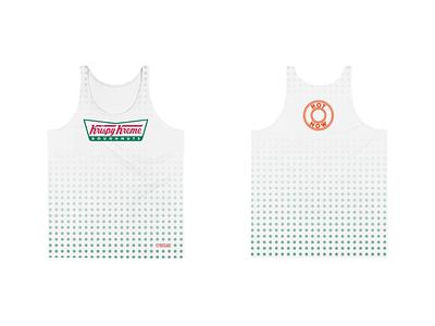 Krispy Kreme Men's Performance Running Tank krispy kreme donuts doughnuts athletics racing running app athletic apparel