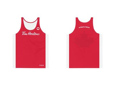 Tim Hortons Men's Performance Running Tank coffee tank tops running tim hortons canada athletic apparel athletics