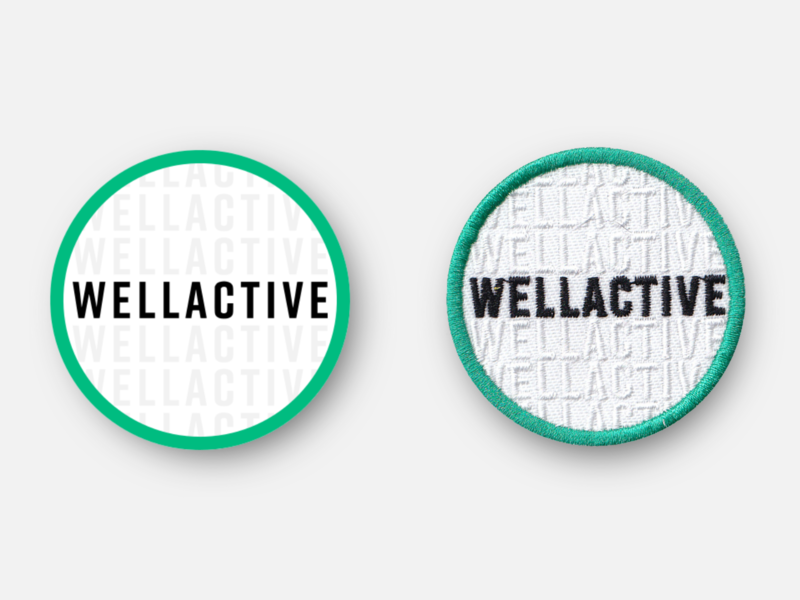 WellActive Health Promotional Patch commissioned healtcare commission logo badge design racing patches running patch inkscape svg vector