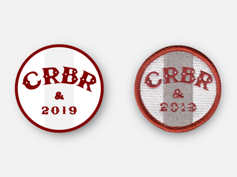 "Cooper River Bridge Run (CRBR) 2019 2"" Race Day Patch design racing badge patches running svg patch inkscape vector 10k charleston"