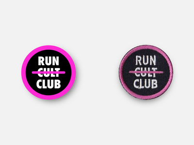 "Run Club Devotee 1.5"" Merit Badge merit badge run club marathon racing design badge patches running patch inkscape svg vector"