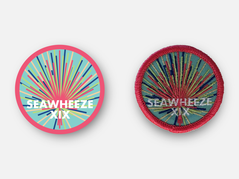 "SeaWheeze Half Marathon 2019 Commemorative 2"" Race Day Patch lululemon vancouver seawheeze half marathon phyiscal product marathon racing design patches badge running patch inkscape svg vector"