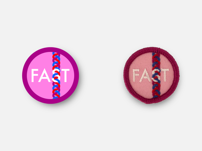 """Fast Braids 1.5"""" Merit Badge fastbraidfriday girl power fast braids racing merit badge half marathon physical product patches badge running patch inkscape vector"""
