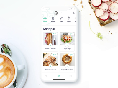 Ślimak App - Menu - FoodApp concept ios animation principle mobileapp foodapp ux ui