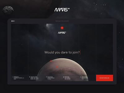 MARS One - Hello & Base Explore logo concept webdesign ux ui website animation mars one