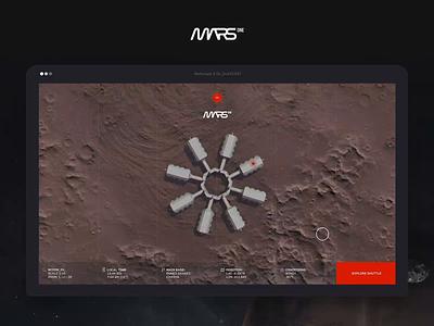 MARS One - Space shuttle & Suit Animation mars nasa animation website concept webdesign ux ui
