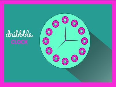 Dribbble Clock