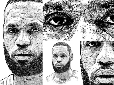 LeBron James commission open digital drawing drawing design figure design art lakers united states sports nba portrait art
