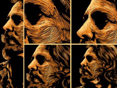 Portrait unique style artwork - Eddie Vedder