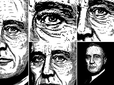 Portrait unique style artwork - Franklin Delano Roosevelt barmalisirtb portrait art usa united state president franklin delano roosevelt