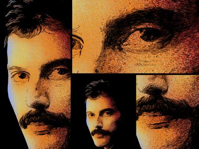 Portrait unique style artwork - Freddie Mercury