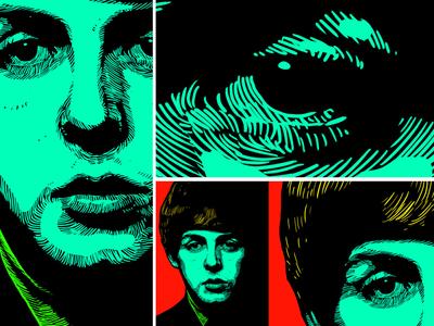 Portrait unique style artwork - Paul Mccartney