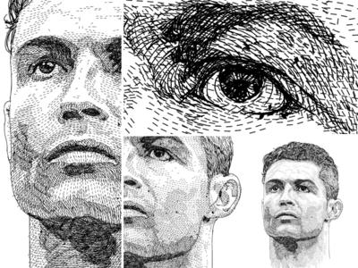 Portrait unique style - Cristiano Ronaldo