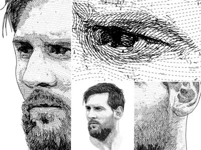 Portrait unique style - Lionel Messi