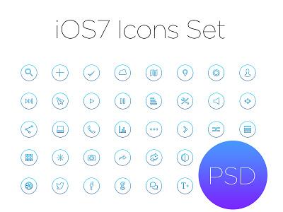 Ios7 Outline Icon Set app design typography ux illustration branding clean flat icon logo ui vector