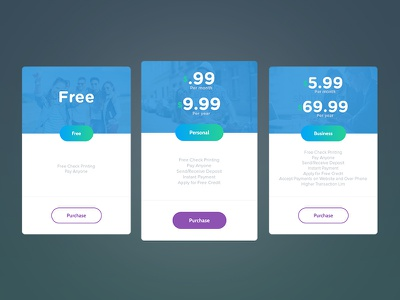 Pricing table typography ux illustration design ui app icon branding vector logo flat clean