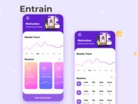 Entrain - Meditation app logo branding illustration icon vector ux ui flat design clean app