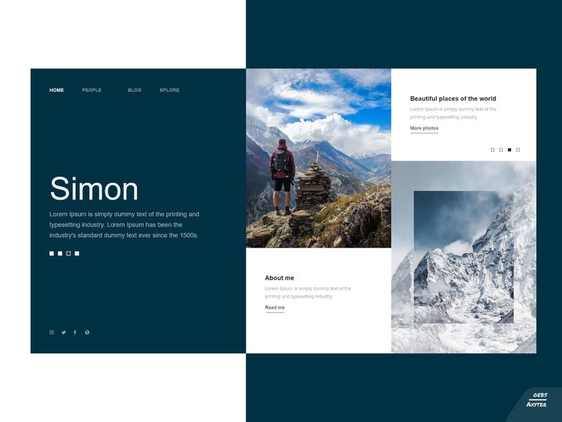 Explore - landing page adobexd main people main page explore elegant landingpage blog simple design branding ui clean