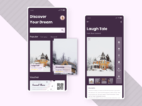 #exploration Booking Villa App discover dream trend ticket villa vacation holiday travel booking mobile app ui adobexd card app simple explore elegant design clean branding