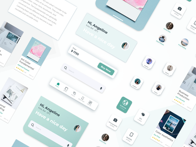 UI Elements - Books App elements ui kit uidesign uiux material ui collection element mobile app adobexd card design branding ui explore simple elegant clean