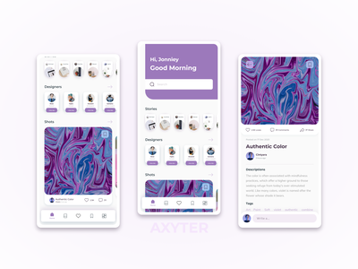 Social media Designer social media designer socialmedia stories designer design app shot shop violet card app mobile app design ui branding adobexd explore simple elegant clean