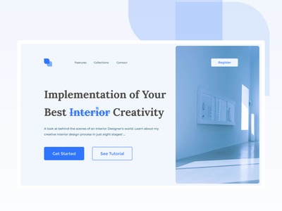 Interior Creative Website trend 2021 trending best interiordesign interior homepage home blog profile landingpage ui branding adobexd explore simple elegant clean